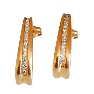 Diamond Hoop Earrings 18ct Gold 0.25ct