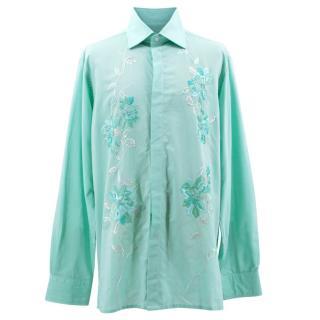 Richard James Blue Embroidered Shirt