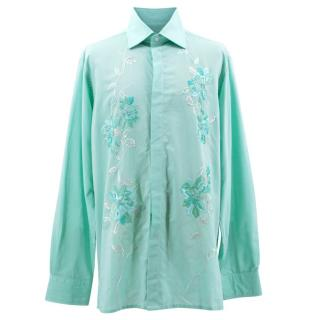 Richard James Blue Embroidered Shirt