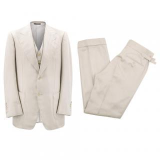 Tom Ford Beige Three Piece Suit
