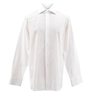 Richard James White Mesh Shirt