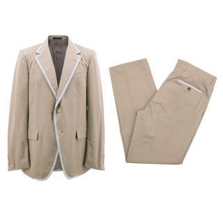Lanvin Men's Khaki Cotton Suit