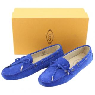 Tod's Gommino Women's Driving Shoes in Blue, UK 5.5