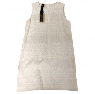 Giambattista Valli Ivory Silk Embroidered Dress