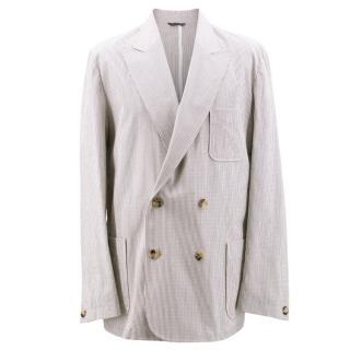 Richard James Savile Row Men's Cotton Striped Blazer