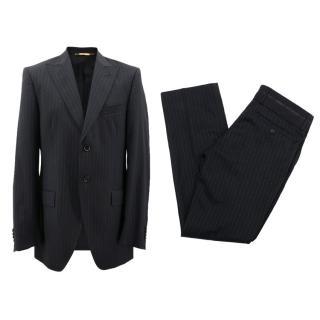 Dolce & Gabbana Black Pinstripe Suit