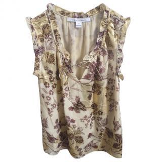 DVF Silk Floral Print Blouse