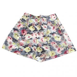 Miu Miu Floral Cotton Shorts