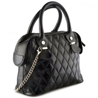 Cesare Paciotti leather bag with metal chain