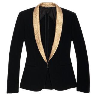 Rag and Bone Black and Gold Blazer/Tuxedo Jacket