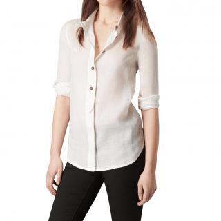 Burberry White Ramie Shirt