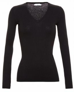 Vince Skinny Ribbed V-neck Jumper