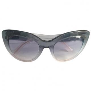Dolce & Gabbana Blue Cat Eye Sunglasses