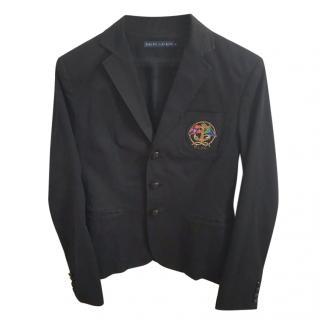 Black Ralph Lauren Cotton Club Jacket
