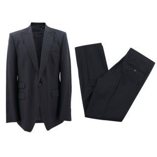 Dolce & Gabbana Men's Black Pinstripe Suit