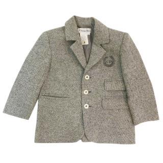 Dior Boy's Grey Wool Jacket