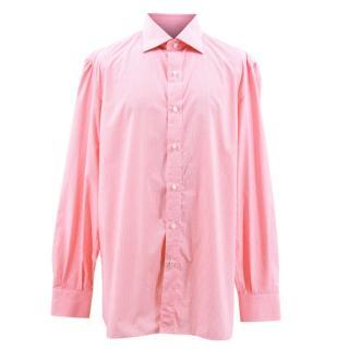 Isaia Check Pink Shirt