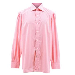 Isaia Check Pink Shirt