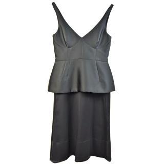 Celine Black peplum Dress