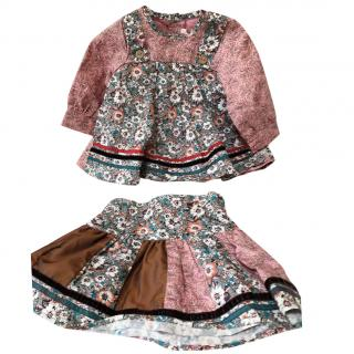 Kenzo baby girl floral top and skirt 6 months