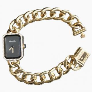 Chanel 18k Gold & Diamond Premier Watch