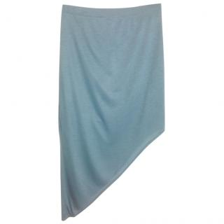 Helmut Lang Blue Mid-Length Asymmetrical Skirt