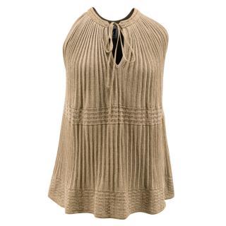 M Missoni Gold Knit Top