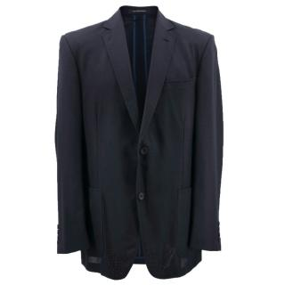 Richard James Men's Navy Blue Blazer