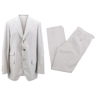 Camoshita Silk Blend Pinstripe Suit