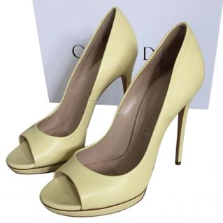Casadei Yellow Peeptoe Heels