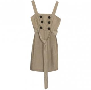 Milly Sand Button Detail Dress