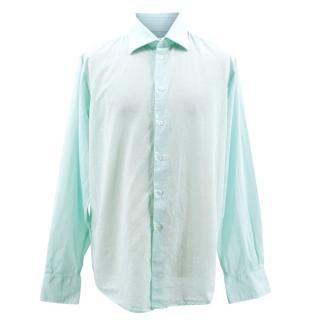 Richard James Savile Row Men's Aqua Shirt
