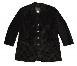 Versus Versace Black Textured Cotton Blazer Made in Italy