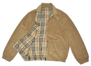 Burberry Full Zip Check Cotton Reversible Jacket