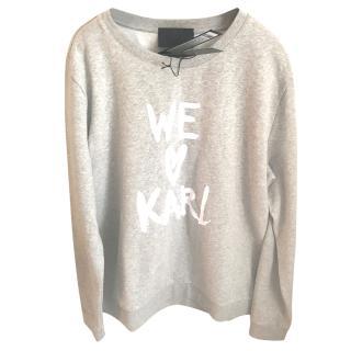 Karl Lagerfeld We love Karl sweatshirt