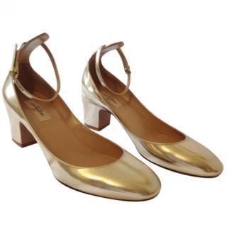 Valentino Platino Gold Pumps