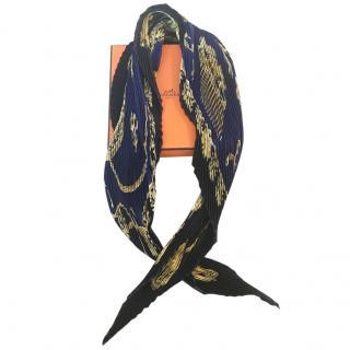 Hermes Silk Plisse scarf