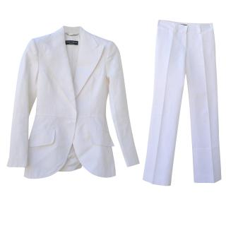 DOLCE&GABBANA  white trouser suit
