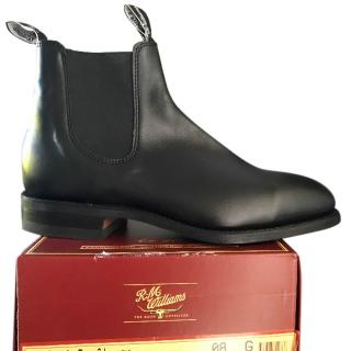 RM Williams Black Chelsea boots
