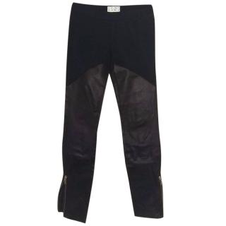 1020 By Nicole Leather And Ponte Cropped Leggings