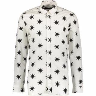 LOVE MOSCHINO White & Black Star Print Shirt