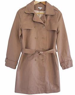 Chloe brown linen trench coat