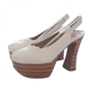 Chloe White Platform Shoes