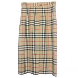 Burberry Nova Print Long Skirt