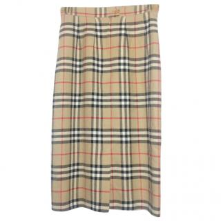 Burberry Nova Print Long Skirt