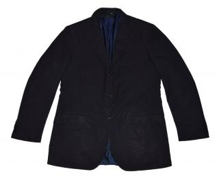 Black Wool Three Button Blazer Made in Italy