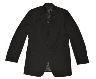 Fendi Black Wool Three Button Blazer Made in Italy
