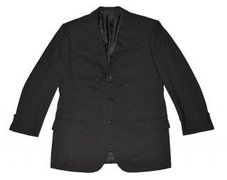 Kiton Gray Striped Wool Three Button Blazer Made in Italy