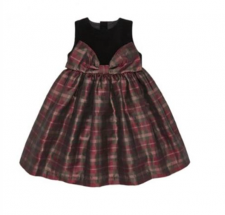 Amberley London Age 7 Plaid Taffeta & Velvet Party Dress