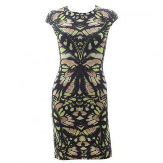 McQ Alexander McQueen Dragonfly Stretch-Jersey Printed Dress